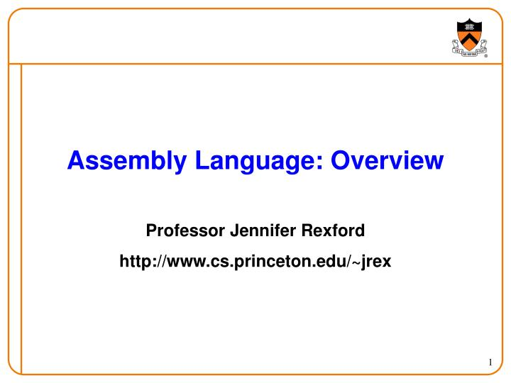 assembly language overview n.