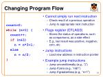 changing program flow