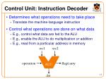 control unit instruction decoder