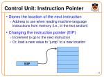 control unit instruction pointer