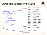 jump and labels while loop1