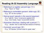 reading ia 32 assembly language