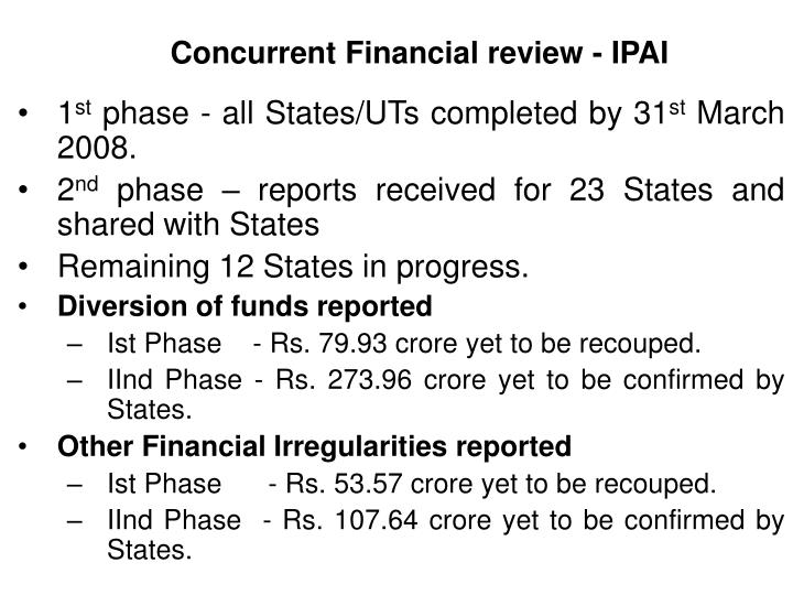 Concurrent Financial review - IPAI