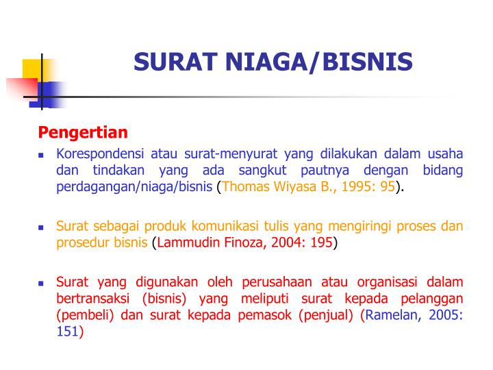 Ppt Surat Niagabisnis Powerpoint Presentation Id3322088
