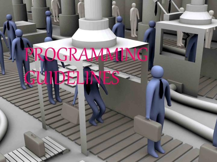 programming guidelines n.