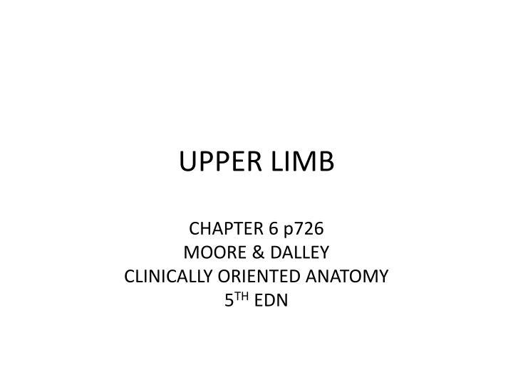 Ppt Upper Limb Powerpoint Presentation Id3322273