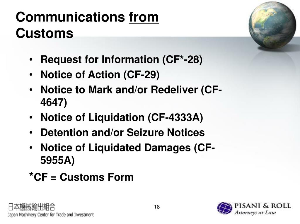 PPT - U S  Customs Trade Compliance: What Japanese Exporters