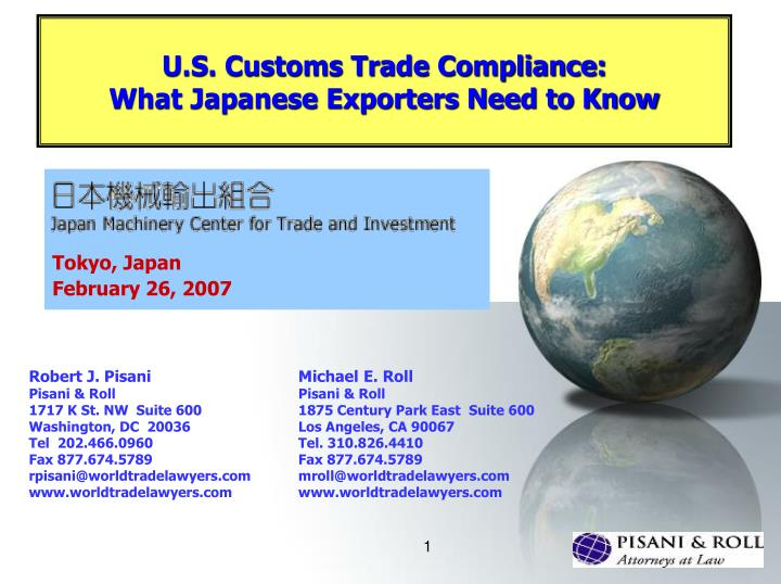u s customs trade compliance what japanese exporters need to know n.