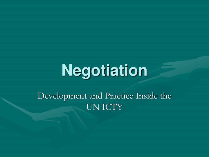 negotiation n.