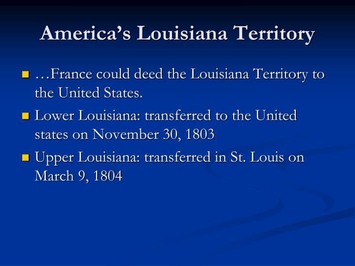 America's Louisiana Territory