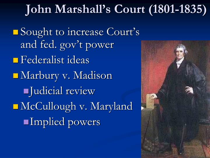John Marshall's Court (1801-1835)