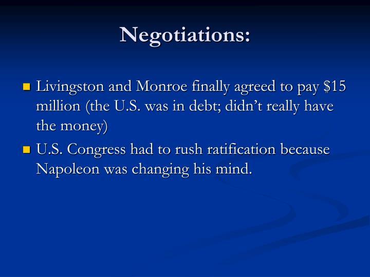 Negotiations: