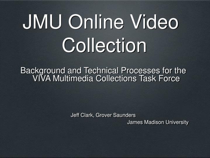 jmu online video collection n.