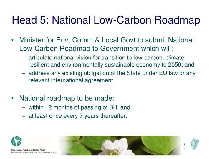 Head 5: National Low-Carbon Roadmap