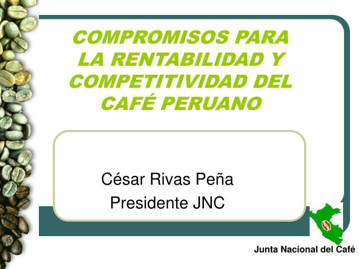 Compromisos para la rentabilidad y competitividad del caf peruano