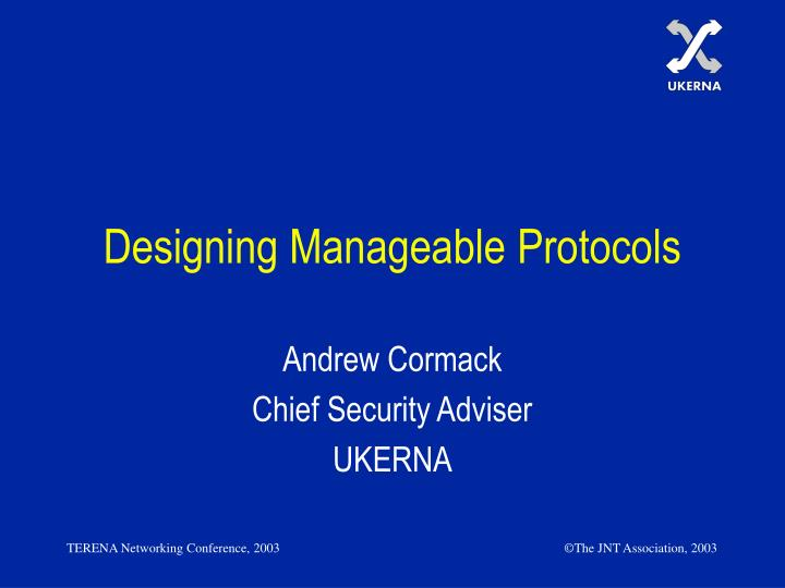 designing manageable protocols n.