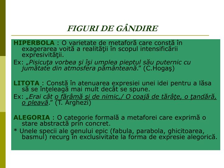FIGURI DE GÂNDIRE