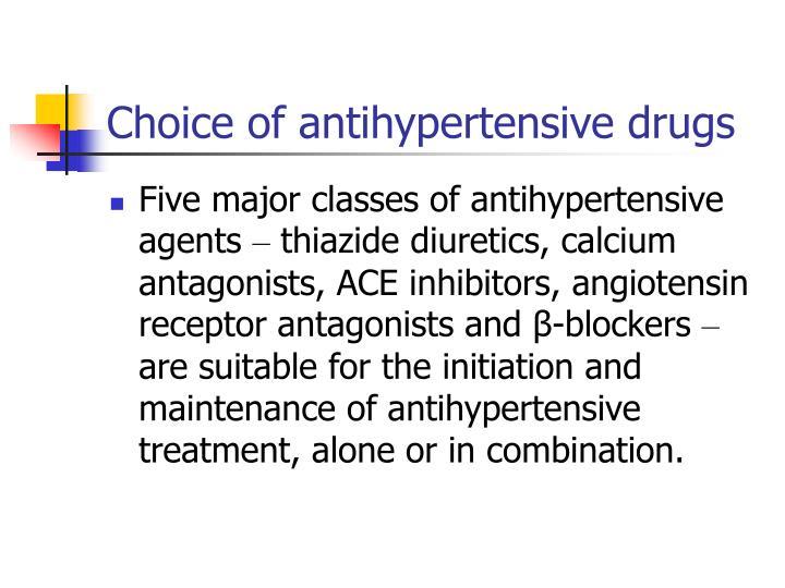 Choice of antihypertensive drugs