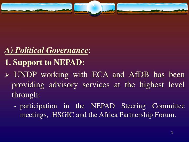 A) Political Governance