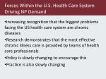 forces within the u s health care system driving np demand