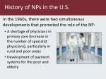 history of nps in the u s