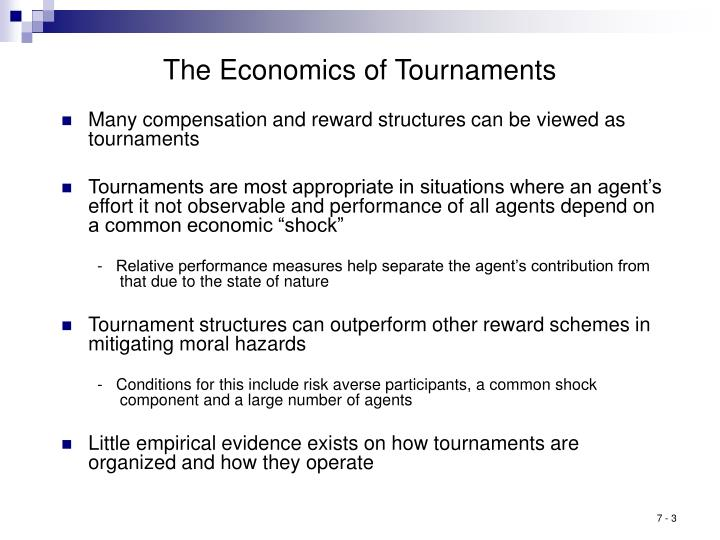 The Economics of Tournaments