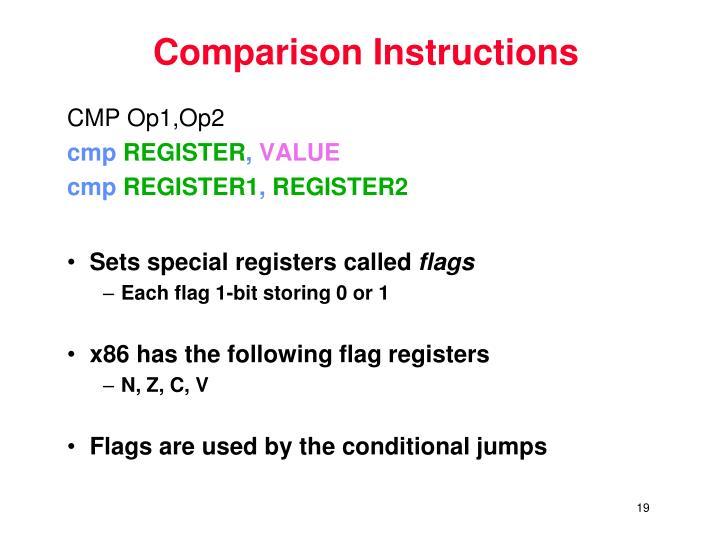 Comparison Instructions