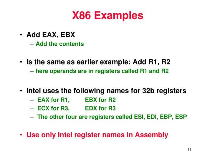 X86 Examples