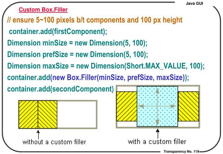 Custom Box.Filler