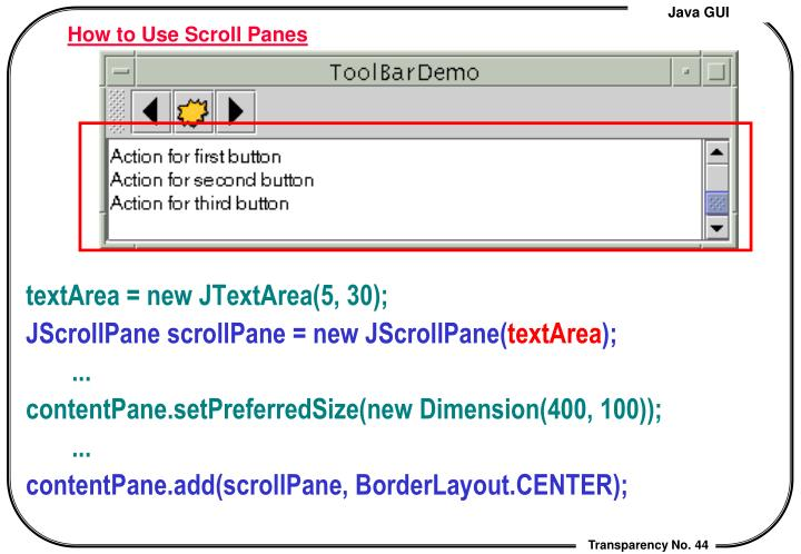 How to Use Scroll Panes