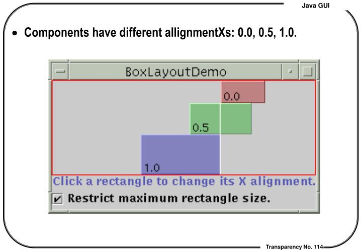 Components have different allignmentXs: 0.0, 0.5, 1.0.