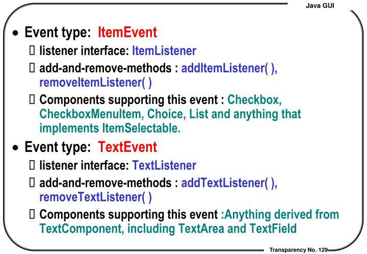 Event type: