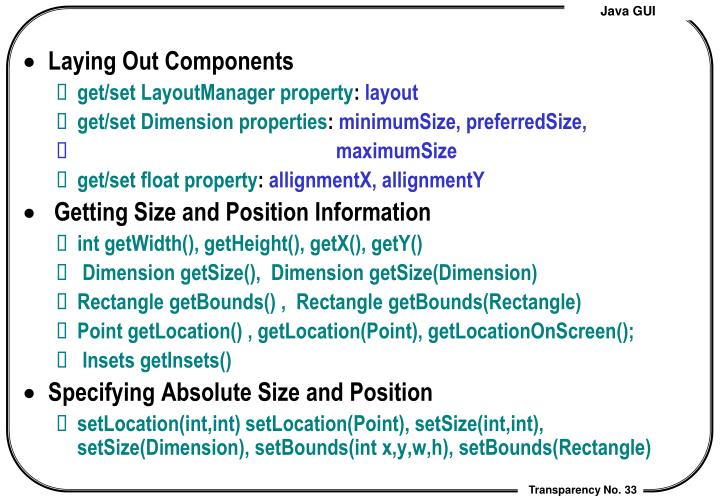 Laying Out Components