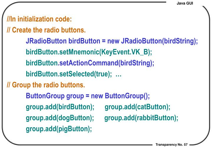 //In initialization code: