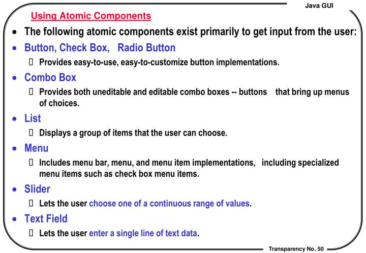 Using Atomic Components