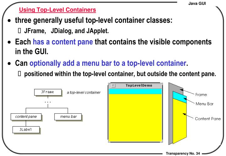 Using Top-Level Containers