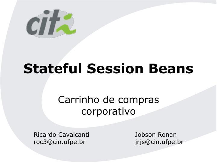 stateful session beans n.