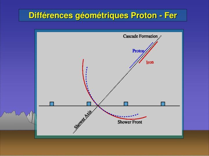 Différences géométriques Proton - Fer