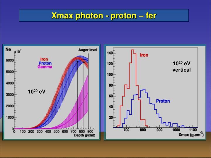 Xmax photon - proton – fer