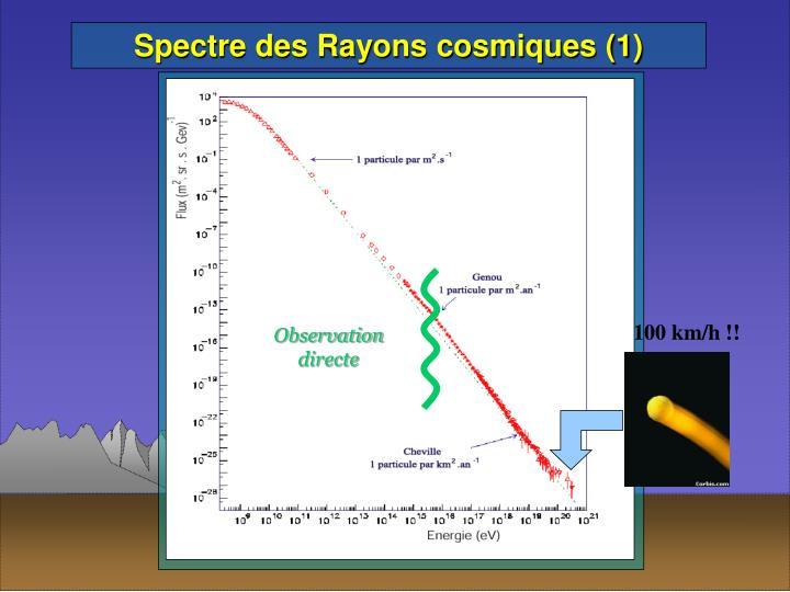 Spectre des Rayons cosmiques (1)