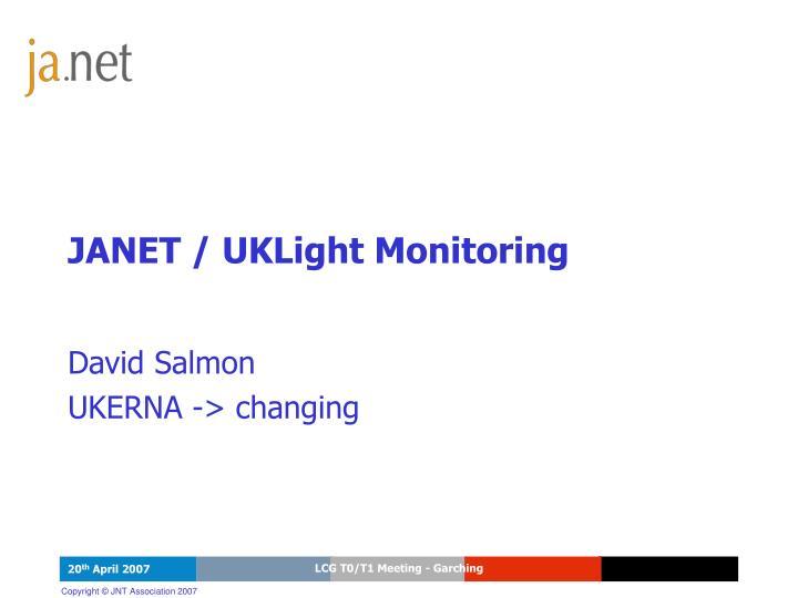 janet uklight monitoring n.