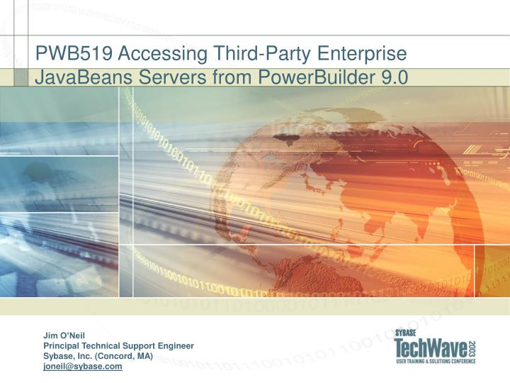 pwb519 accessing third party enterprise javabeans servers from powerbuilder 9 0 n.