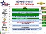 1820 career path with ldo off ramp