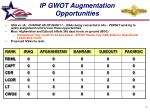 ip gwot augmentation opportunities