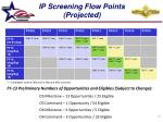 ip screening flow points projected