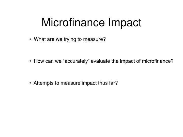 microfinance impact n.
