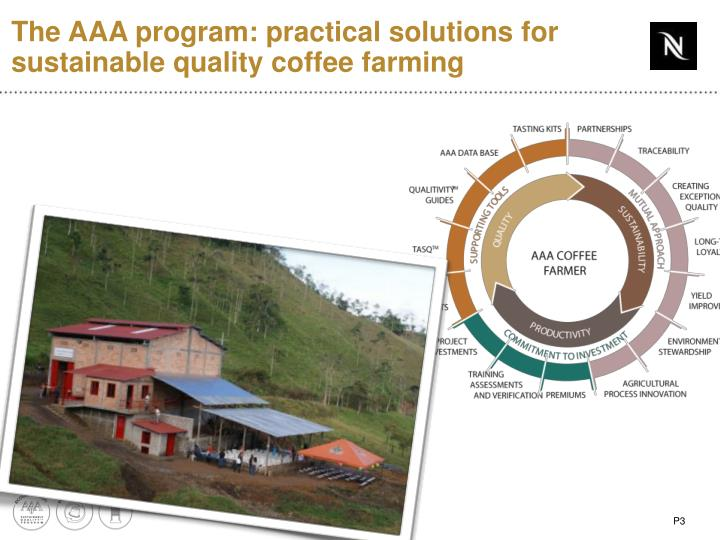 The AAA program: practical solutions for sustainable quality coffee farming