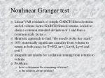 nonlinear granger test