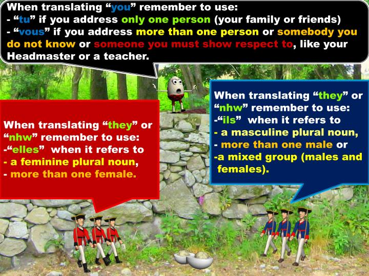When translating ""