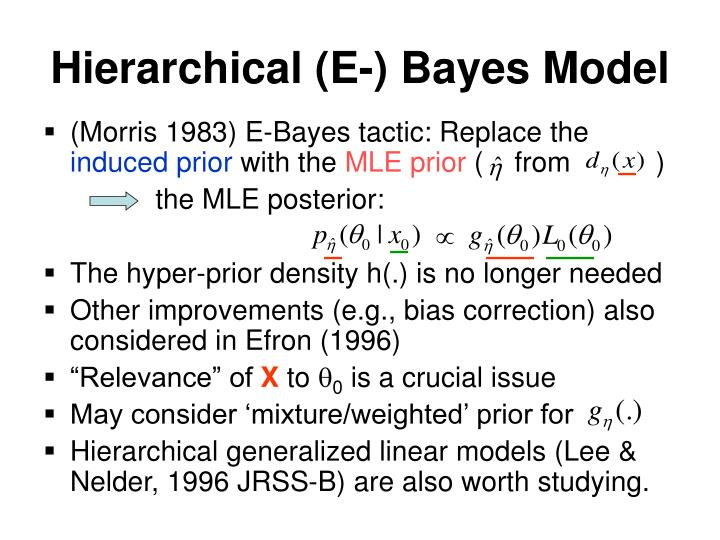 Hierarchical (E-) Bayes Model